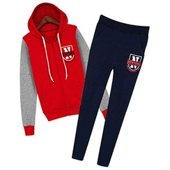 Cherry Dress - Set: Fleece-lined Hoodie + Sweatpants