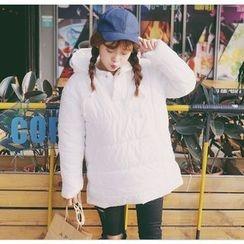 Eva Fashion - Plain Padded Hoodie