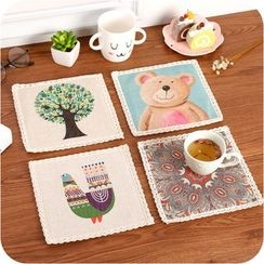 MissYou - Print Linen Cotton Table Mat