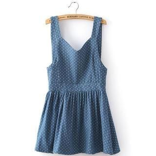 JVL - Bow-Back Denim Jumper Dress