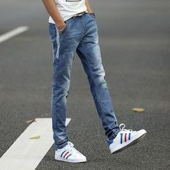 Breeson - Slim-Fit Washed Jeans