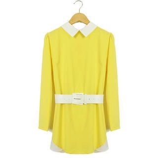 Ringnor - Contrast-Collar Tunic with Belt
