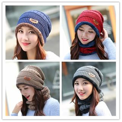 Reyna - Set: Fleece Lined Beanie + Neck Warmer