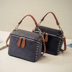 Nautilus Bags - Studded Colour Block Shoulder Bag
