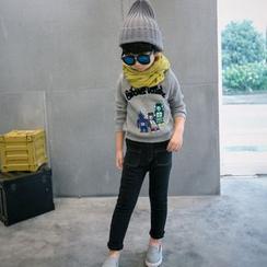 柠檬嘟嘟 - 小童机器人图案套衫