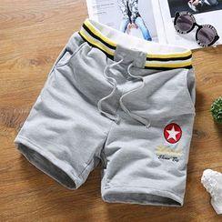 Chic Maison - Drawstring-Waist Star-Print Shorts
