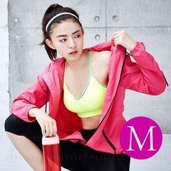 V.VIENNA - Girl's Light Anti-UV Air Sport Jacket (Pink) (M)