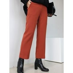STYLEBYYAM - Flat-Front Straight-Cut Pants