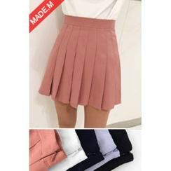 MICHYEORA - Colored Pleated Mini Skirt