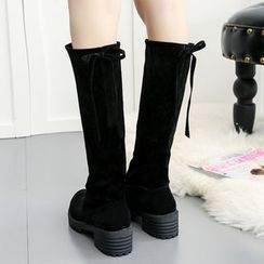 Zandy Shoes - Tie-Back Tall Boots