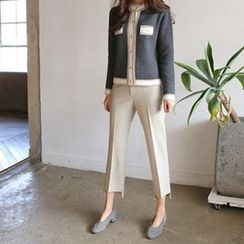 Hello sweety - Flat-Front Dip-Back Pants