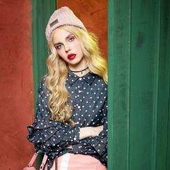 ELF SACK - Polka-Dot Denim Blouse