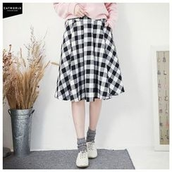 CatWorld - Gingham Pleated Skirt
