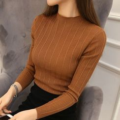 MayFair - Mock Neck Long-Sleeve Knit Top