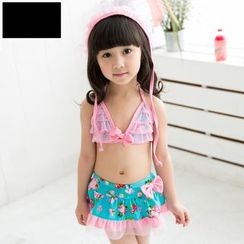 Mermaid's Tale - Kids Lace Panel Bikini