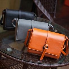 ICE ELF - Plain Faux Leather Shoulder Bag