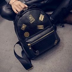 Youme - Embellished Faux Leather Backpack
