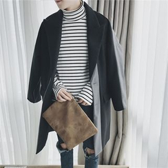 Chuoku - Colour Block Wool Coat