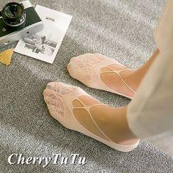 CherryTuTu - Cutout Lace No-show Socks