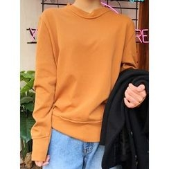 FROMBEGINNING - Seam-Detail Cotton Sweatshirt