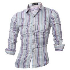 Hansel - Striped Long-Sleeve Shirt