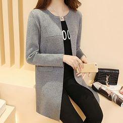 Ageha - Open Front Long Jacket