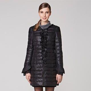 O.SA - Lace-Hem Puffer Coat