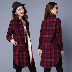 lilygirl - Plaid Long Shirt