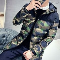 Besto - Hooded Camo Padded jacket