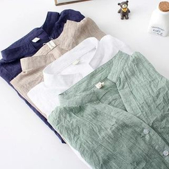 Daybreak - 立領七分袖襯衫