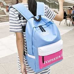 Top Seeka - Lettering Color Block Backpack
