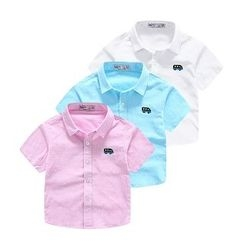 WellKids - Kids Short-Sleeve Embroidered Shirt