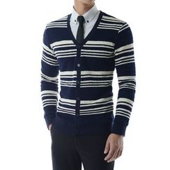 TheLees - V-Neck Stripe Cardigan