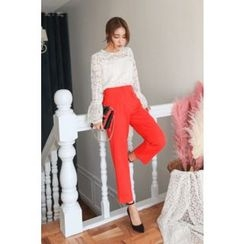 PPGIRL - Band-Waist Tapered Pants