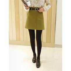 hellopeco - A-Line Skirt with Belt