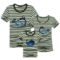 Panna Cotta - Family Matching Whale Print Short-Sleeve T-Shirt