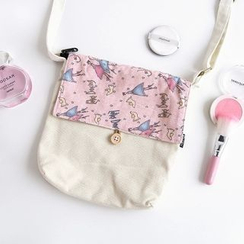 Cutie Bazaar - Printed Canvas Crossbody Bag