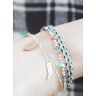kitsch island - Gemstone Layered Bracelet