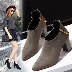 Simply Walk - Chunky Heel Ankle Boots