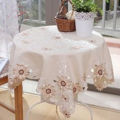 Yira - Floral Embroidered Tablecloth