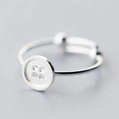 A'ROCH - 925 Sterling Silver Button Ring