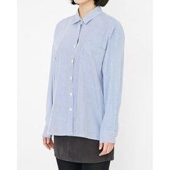 Someday, if - Pocket-Front Striped Shirt