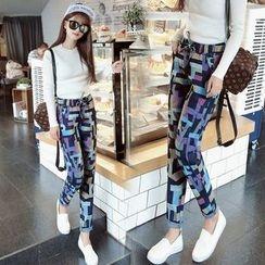 Nassyi - Drawstring Straight-Cut Jeans