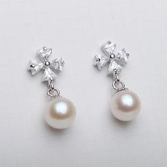 ViVi Pearl - Freshwater Pearl Sterling Silver Earrings