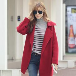 REDOPIN - Wide Lapel Knit Coat