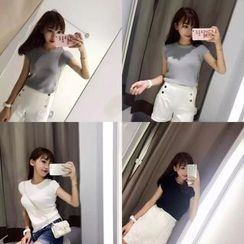 QZ Lady - Short-Sleeve Knit Top