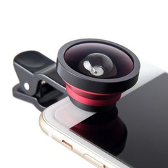 Naranja - 3-in-1 Mobile Camera Lens Kit: Wide Angle + Micro + Fish Eye