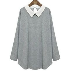Dream a Dream - Long-Sleeve Contrast Collar T-Shirt