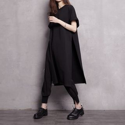 Sonne - Short Sleeve Side Slit T-Shirt