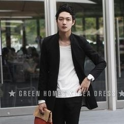 Mr Fashion - Mandarin Collar Blazer